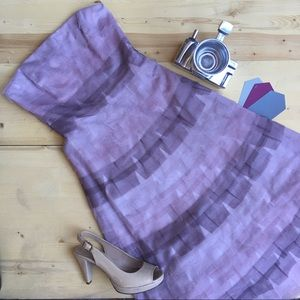 BCBG Ruffle Tiered Strapless Dress NWOT